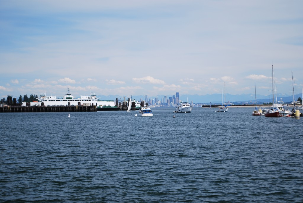 A beautiful clear day; view of Seattle