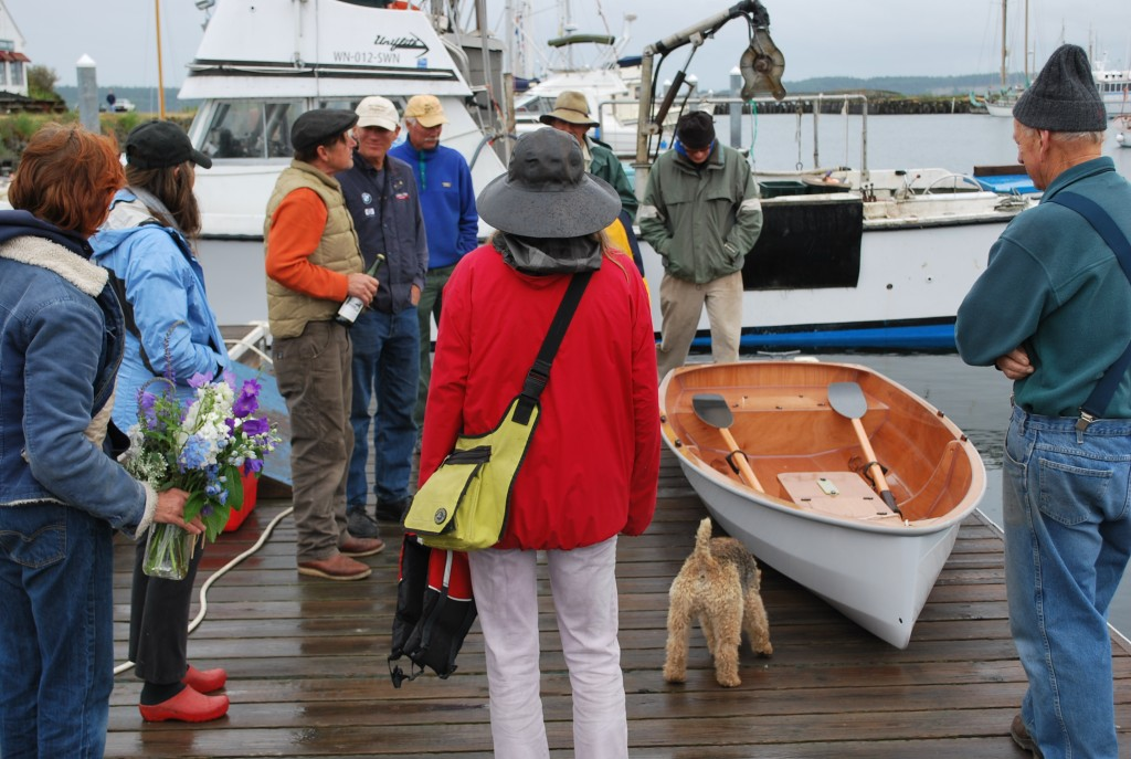 A Port Townsend dinghy launching
