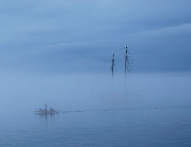 Steam and Sail in the fog