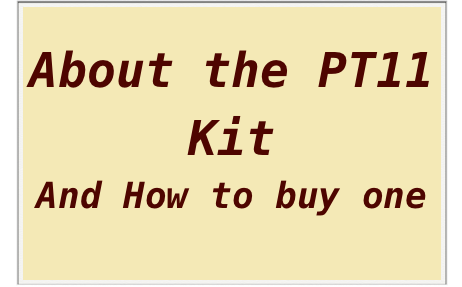 What is the PT 11?Click here to See a description and links to more ...